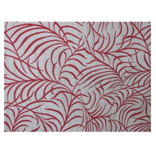 Coral Leaf Pattern Drapery - 4 Panels