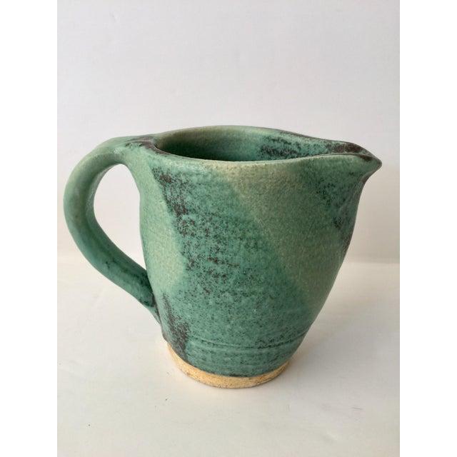 Vintage Green Ceramic Pitcher - Image 2 of 4