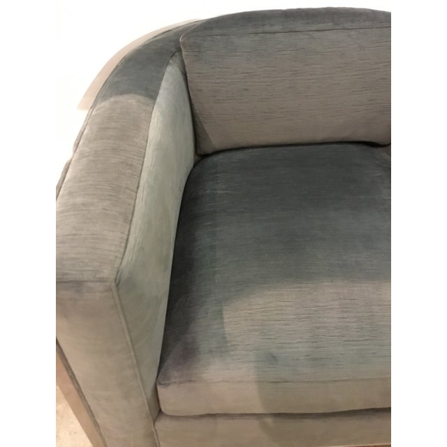 Modern Caracole Modern Charcoal Velvet Ice Breaker Club Chair For Sale - Image 3 of 7