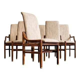 1970s Henrendon Scene One Campaign Dining Chairs - Set of 6 For Sale
