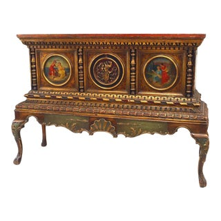 Italian Renaissance Style Gilt Chest on Stand For Sale