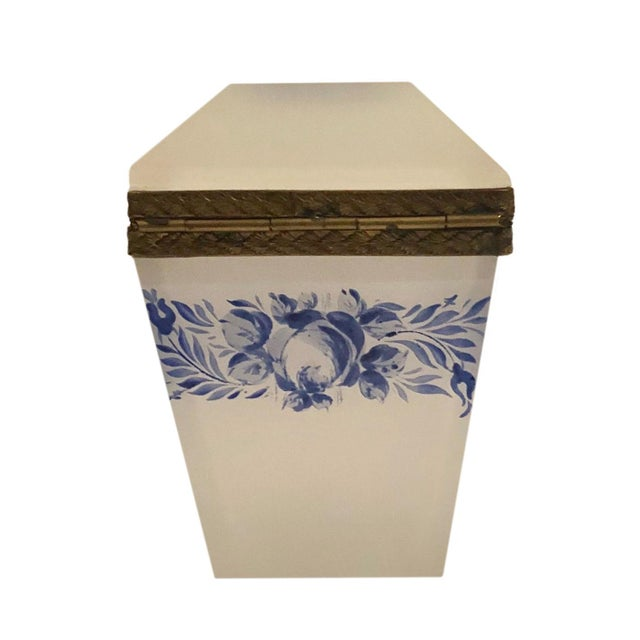 Glass Vintage French Opaline Box For Sale - Image 7 of 9
