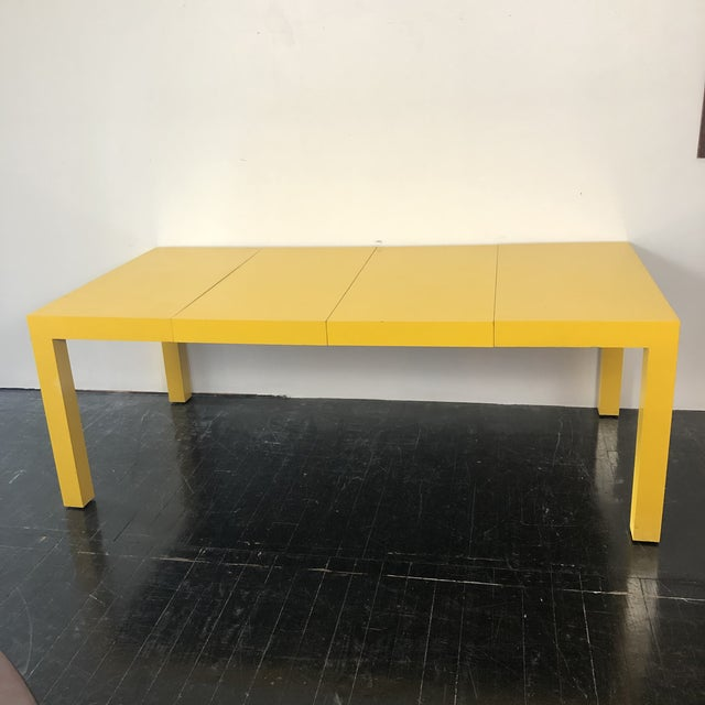 1960s 1960s Milo Baughman Thayer Coggin Parsons Yellow Dining Table For Sale - Image 5 of 5