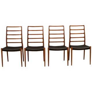 1960s Teak Møller No. 82 Dining Chairs- Set of 4 For Sale