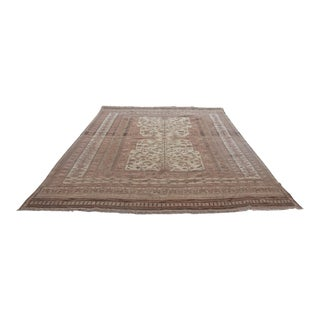 Pakistani Hand Woven Wool Rug - 7′ × 9′ For Sale