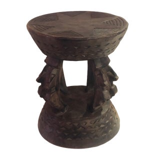 "African Dogon Tribe Milk Stool, Mali 11""h For Sale"