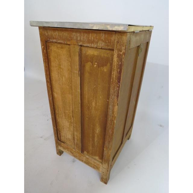 Brown Vintage 1920s Oak Ice Box Refrigerator For Sale - Image 8 of 11