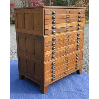 1930s Hamilton Flat File Map Cabinet Preview