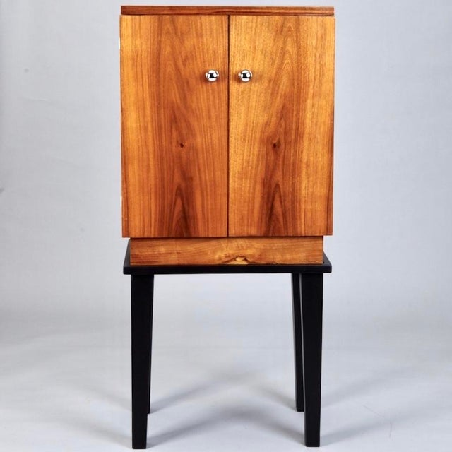 Art Deco Wooden Cabinet on Metal Stand - Image 3 of 9