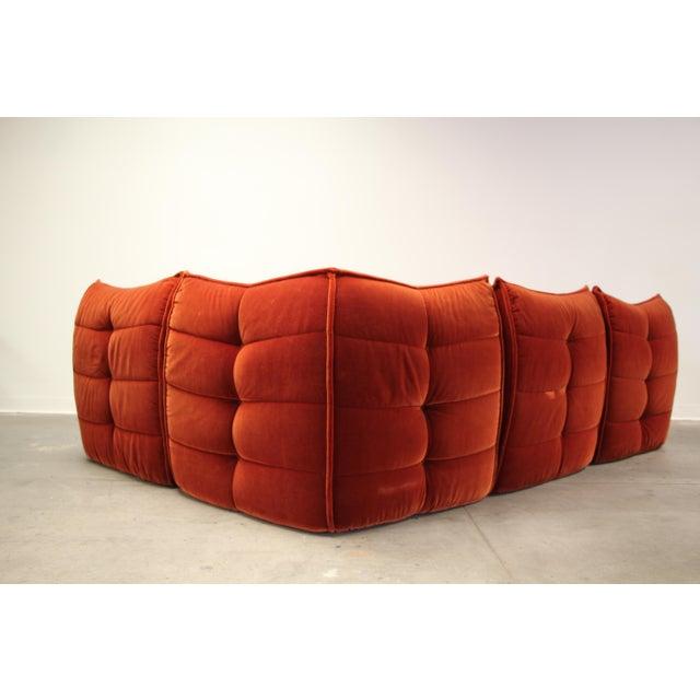 Ligne Roset 1970s French Modular Mohair Sofa For Sale - Image 4 of 13