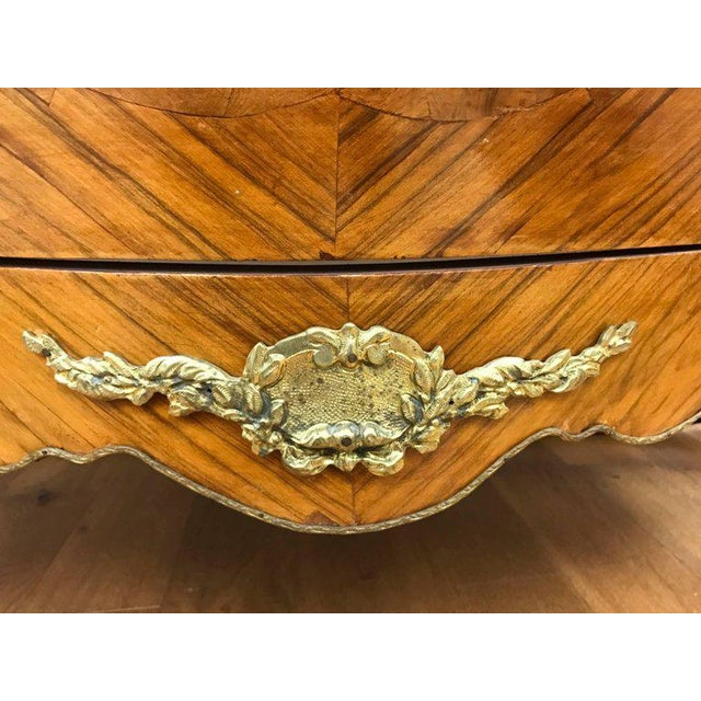 Late 19th Century French Louis XV Marble-Top Kingwood Bombe Chest For Sale - Image 5 of 7