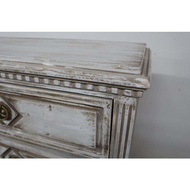 Late 20th Century 20th Century Vintage Swedish Gustavian Style Nightstands - a Pair For Sale - Image 5 of 11