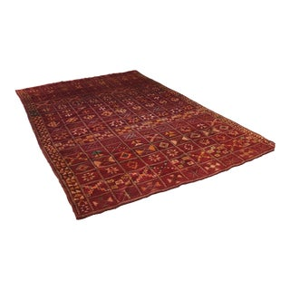 Vintage Moroccan Rug - 6′ × 9′ For Sale