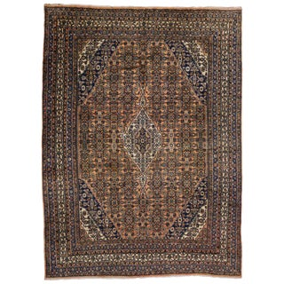 20th Century Persian Hamadan Area Rug - 10′7″ × 14′5″ For Sale