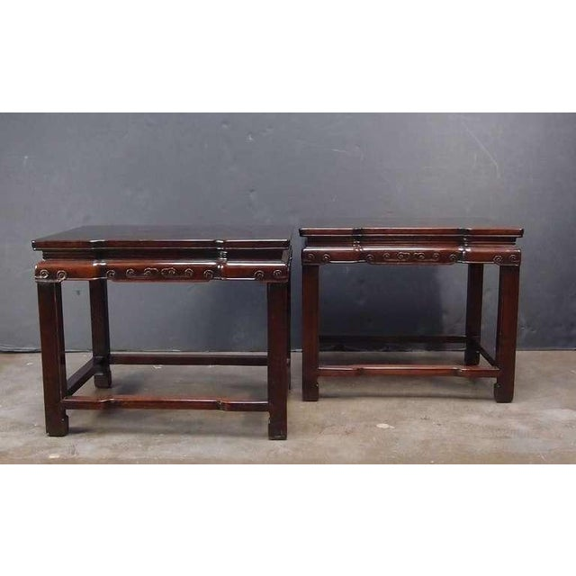 Side Table Chinees.A Pair Of Chinese Rosewood Rectangular Side Tables