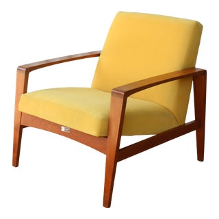1960s Vintage Danish Teak Lounge Chair Imported by Raymor For Sale
