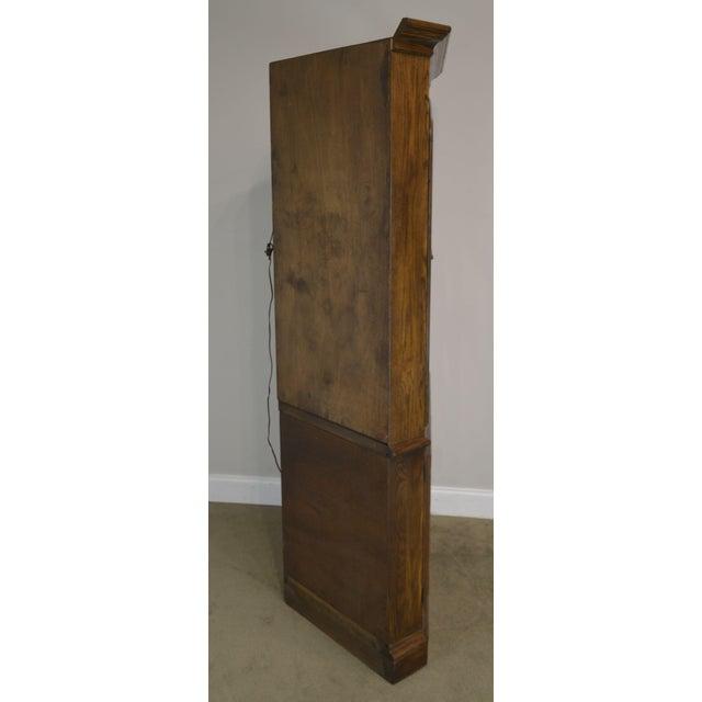 Wood Ethan Allen Royal Charter Oak Corner Cabinet For Sale - Image 7 of 13