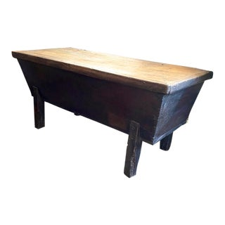 Louis XIII French Black Oak Provincial Dough Trough Sideboard Country For Sale