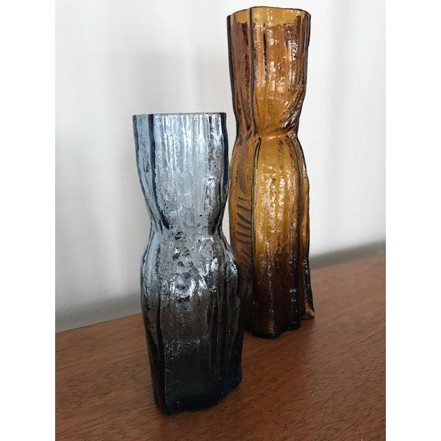 Vintage Scandinavian Lindshammar Glass Vases A Pair Chairish
