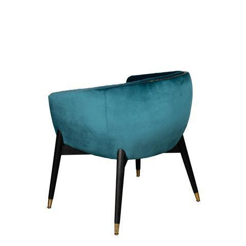 Lucy Accent Chair in Teal For Sale - Image 4 of 6