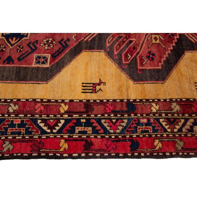 "Textile Apadana - Vintage North West Persian Rug, 4'4"" X 10'8"" For Sale - Image 7 of 9"