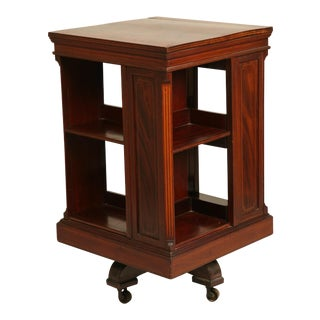 Antique Revolving Book Stand For Sale