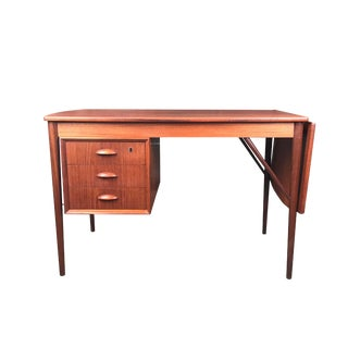 Vintage Danish Teak Drop Leaf Desk
