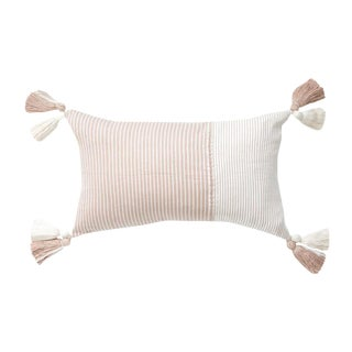 Blush Striped Guatemalan Pillow