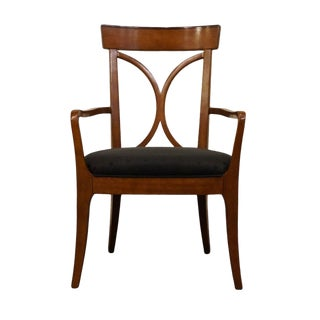 Hickory White Solid Cherry Dining Armchair For Sale