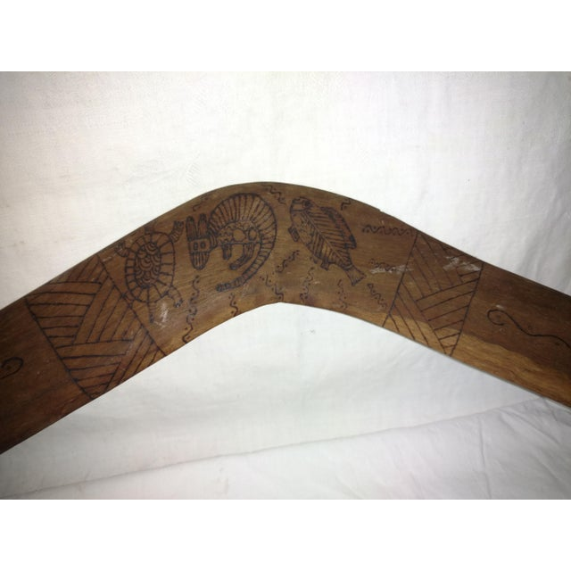 Antique Primitive Australian Red Gum Wood Boomerang For Sale In Sacramento - Image 6 of 8