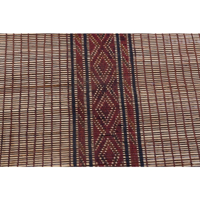 African Large Striped Tuareg Mat For Sale - Image 3 of 4