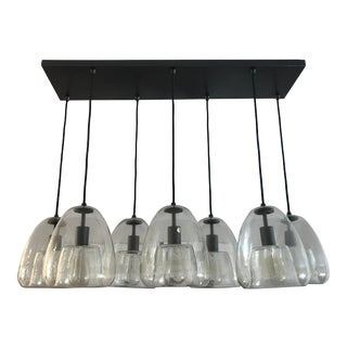 Mid-Century Modern West Elm Duo Walled Rectangular Chandelier For Sale