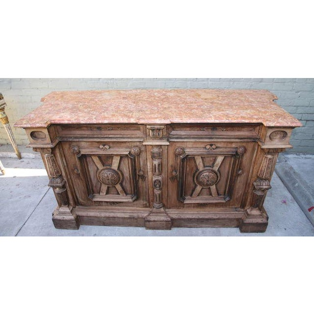 Italian Walnut & Marble Top Credenza - Image 10 of 10