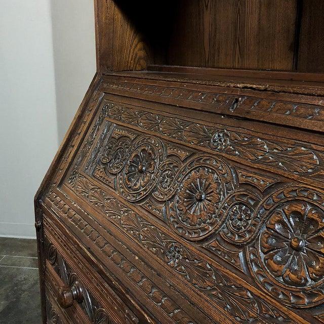 18th Century English Renaissance Secretary Bookcase For Sale - Image 9 of 13