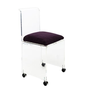 Vintage Mid Century Lucite Vanity Chair For Sale