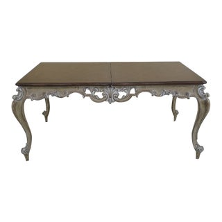 French Louis XV Style Finely Carved Dining Room Table For Sale