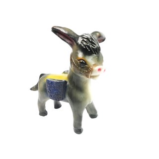 Vintage Hand Made Burro Piggy Bank For Sale
