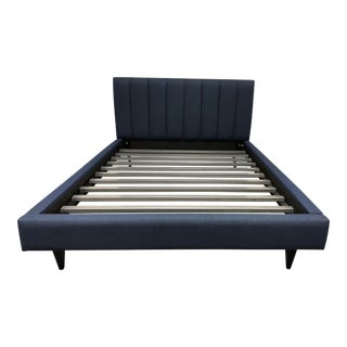 Room and Board Hartley Blue Upholstered Queen Bed