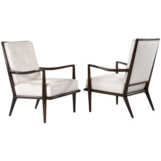 T.H Robsjohn-Gibbings Wing Arm Lounge Chairs - a Pair For Sale