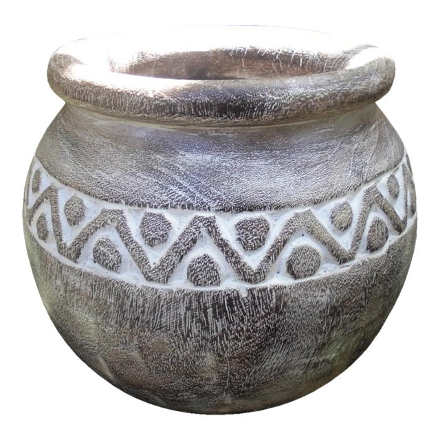 Washed Tribe Pot - Image 1 of 3