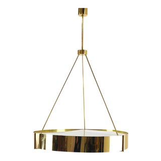 Effetto Vetro Luxury Chandelier in Brass and Glass For Sale