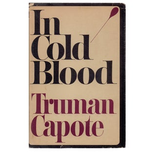 "1965 ""First Edition, in Cold Blood: A True Account of a Multiple Murder and Its Consequences"" Collectible Book For Sale"