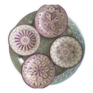 Safi Appetizer Plate, Set of 4 Lilac For Sale