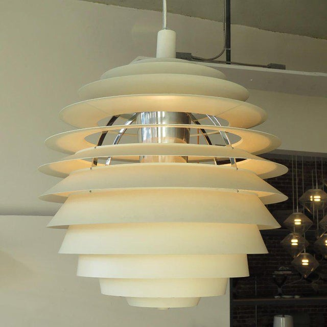 Mid-Century Modern 1960s Poul Henningsen Ph Louvre Pendant Light For Sale - Image 3 of 11