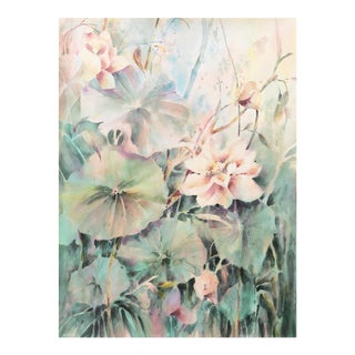 'Water Lilies' by Beverly Fields, 1988; California Watercolor Society, Woman Artist For Sale