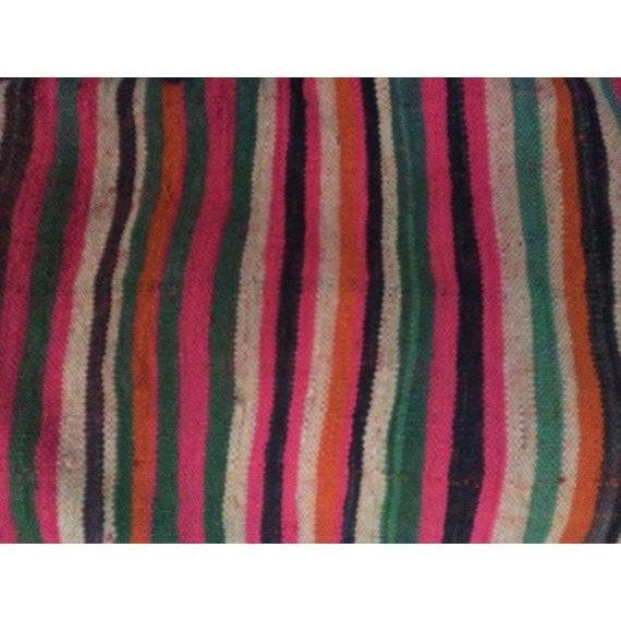 Vintage Moroccan Textile Kilim Pillow - Image 5 of 6