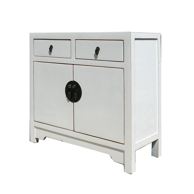 Slim & Narrow White Side Table/Console/Cabinet - Image 2 of 5