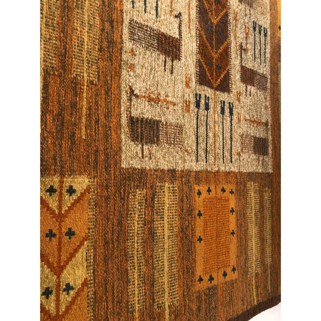 1960s Wall Hung Tapestry - 3′6″ × 4′11″ For Sale In Detroit - Image 6 of 9