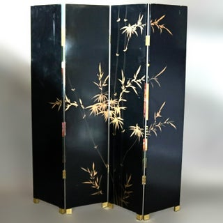 Chinese Black Lacquered Screen With Roesen School Still Life Painting Preview