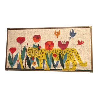 Mexican Mid Century Framed Tapestry For Sale